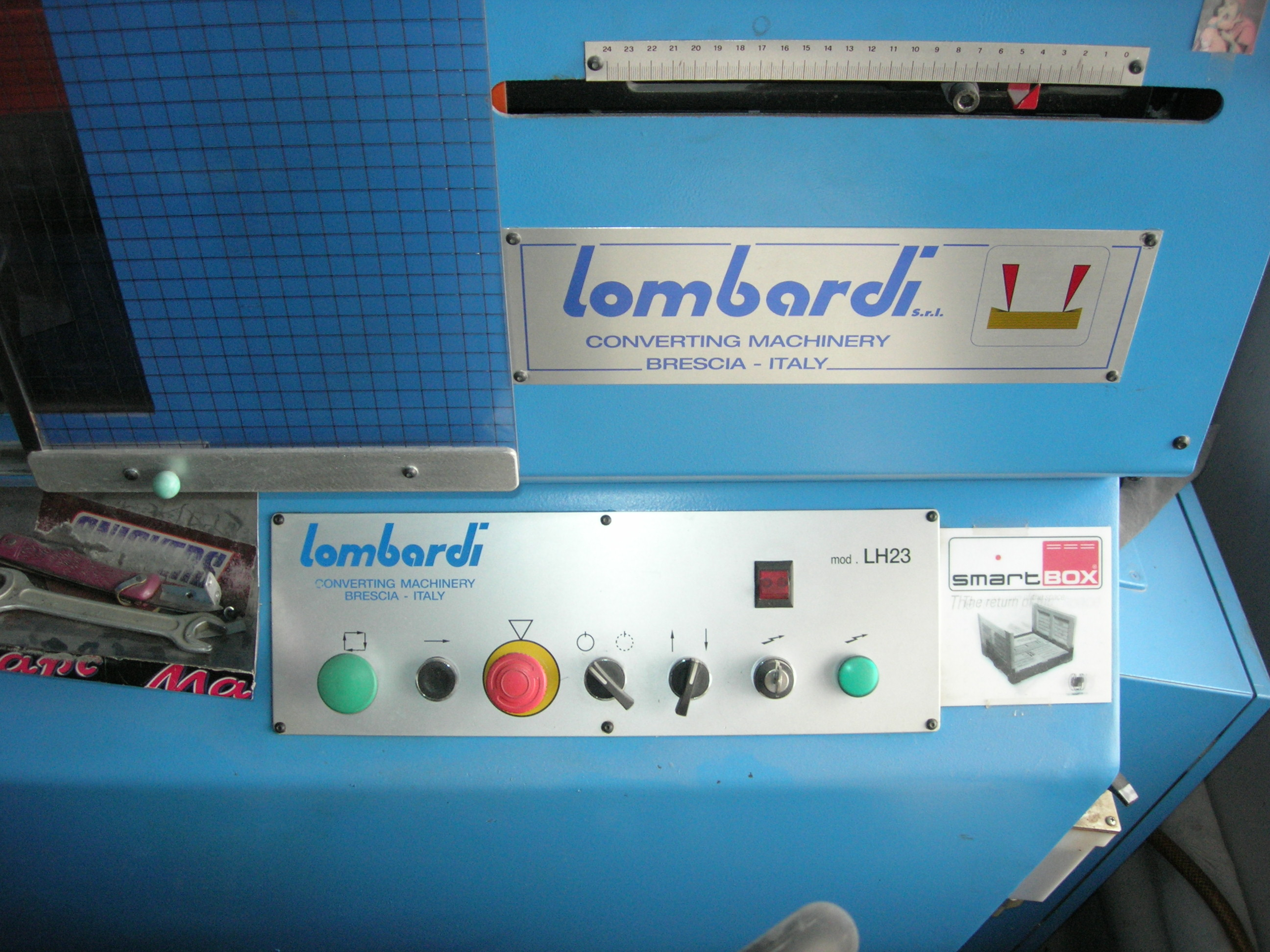 LOMBARDI  LH 23 label punching machine 2007