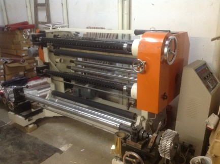 Machine for cut and rewind rolls of foil, PP, PE, paper and other materials  CHINA NEW