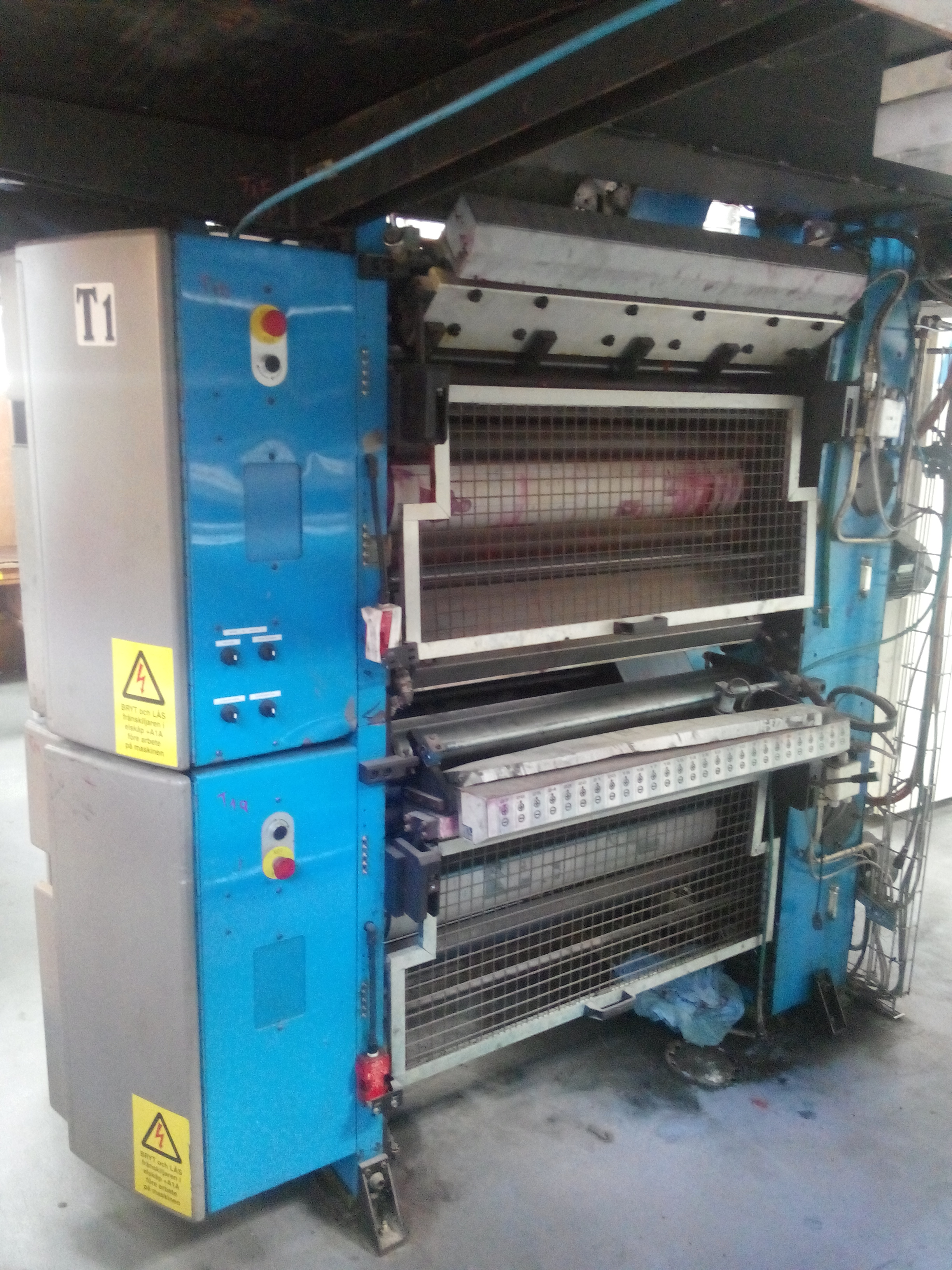 Kammann Ohz web 2000 1 tower with 4 printing units offset presses web fed