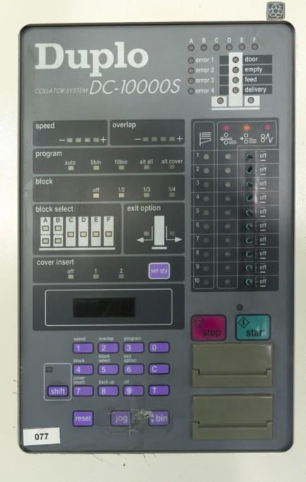 DC 10000S collator Duplo