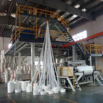 Non woven fabric bag making machine by Fogo industries